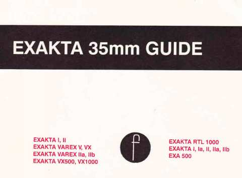 Exakta 35mm Guide