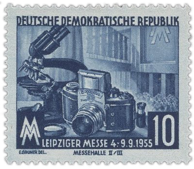 DDR stamp Exakta leipzig Fair 1955